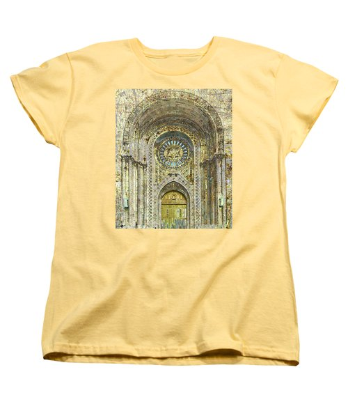 Women's T-Shirt (Standard Cut) featuring the mixed media Synagogue by Tony Rubino