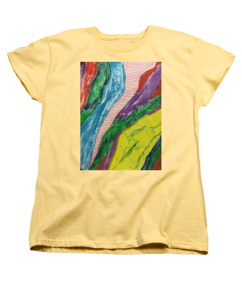Women's T-Shirt (Standard Cut) featuring the painting Artwork On T-shirt - 0010 by Mudiama Kammoh
