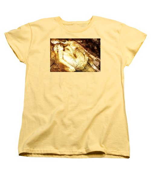 Women's T-Shirt (Standard Cut) featuring the digital art Tangle Of Naked Bodies by Andrea Barbieri