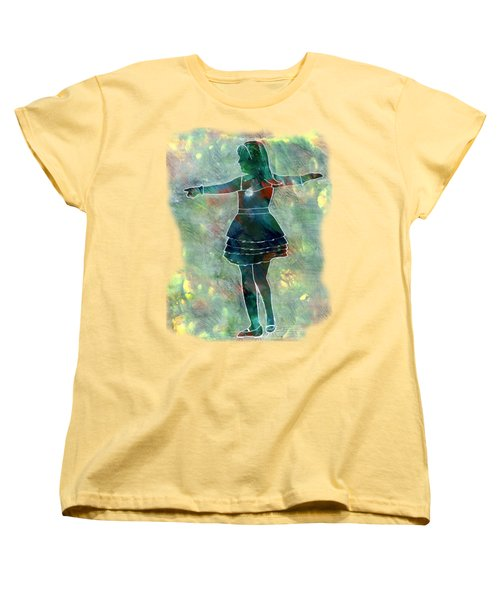 Tap Dancer 2 - Green Women's T-Shirt (Standard Cut) by Lori Kingston