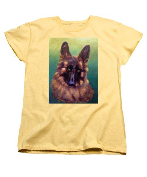 Women's T-Shirt (Standard Cut) featuring the painting Tayto by Sarah Farren