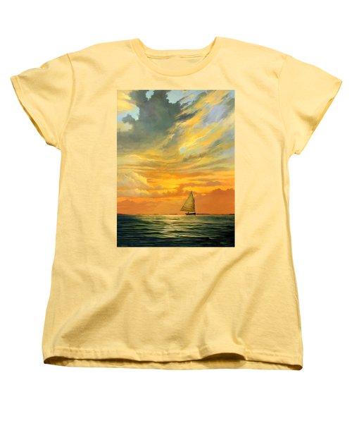 Ten Thousand Islands Women's T-Shirt (Standard Cut) by David  Van Hulst