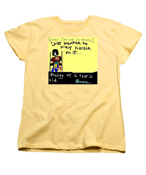 Testing Reality At 6 - 2 Of 2 Women's T-Shirt (Standard Cut) by Lenore Senior