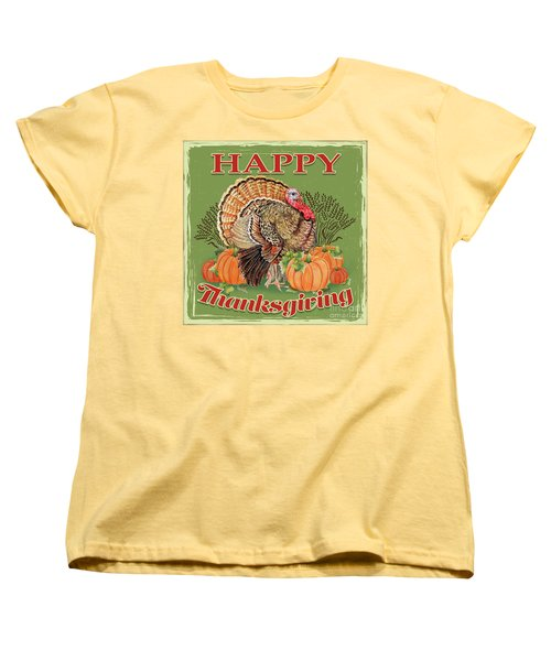 Women's T-Shirt (Standard Cut) featuring the painting Thanksgiving-b by Jean Plout