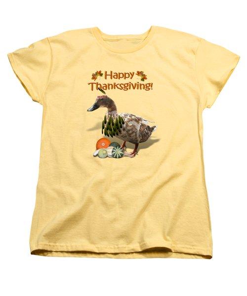 Thanksgiving Indian Duck Women's T-Shirt (Standard Cut)