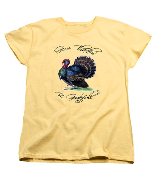 Thanksgiving Turkey Dictionary Art Women's T-Shirt (Standard Cut) by Jacob Kuch