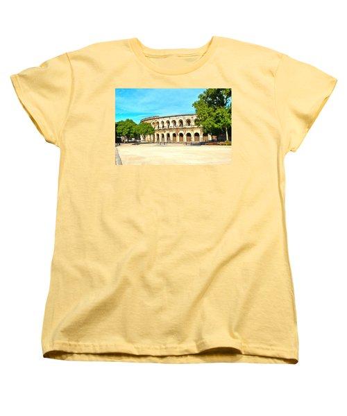 The Amphitheatre Nimes Women's T-Shirt (Standard Cut) by Scott Carruthers