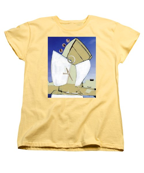 Women's T-Shirt (Standard Cut) featuring the painting The Arc by Michal Mitak Mahgerefteh