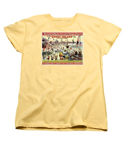 The Barnum And Bailey Greatest Show On Earth The Great Coney Island Water Carnival Women's T-Shirt (Standard Cut) by Carsten Reisinger