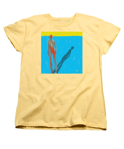 Women's T-Shirt (Standard Cut) featuring the painting The Cast Shadow by Jim Vance