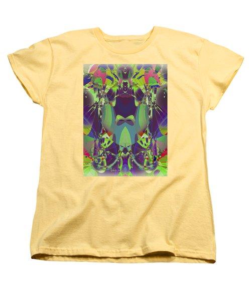 The Color Mask Women's T-Shirt (Standard Cut) by Moustafa Al Hatter