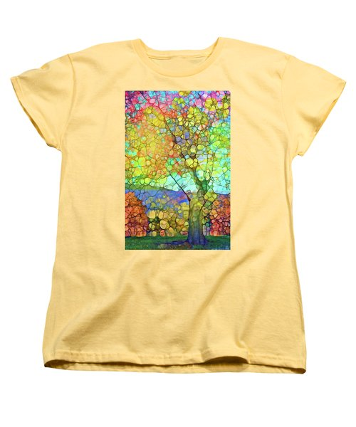 Women's T-Shirt (Standard Cut) featuring the digital art The Contagious Laughter Of Trees by Tara Turner