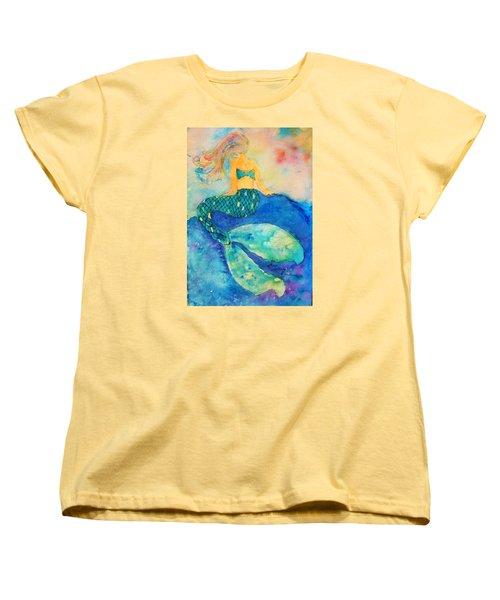 The Contemplation Of A Mermaid Women's T-Shirt (Standard Cut) by Ann Michelle Swadener