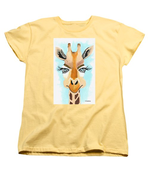 Women's T-Shirt (Standard Cut) featuring the painting The Flirt by Kathleen Sartoris