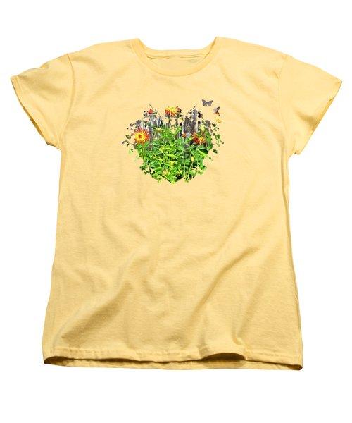 The Flowers Along The Fence  Women's T-Shirt (Standard Cut) by Thom Zehrfeld