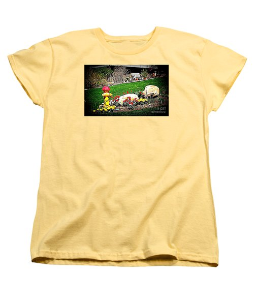 The Gardener Women's T-Shirt (Standard Cut) by Richard W Linford
