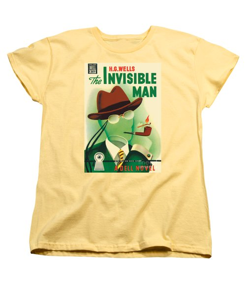 Women's T-Shirt (Standard Cut) featuring the painting The Invisible Man by Gerald Gregg