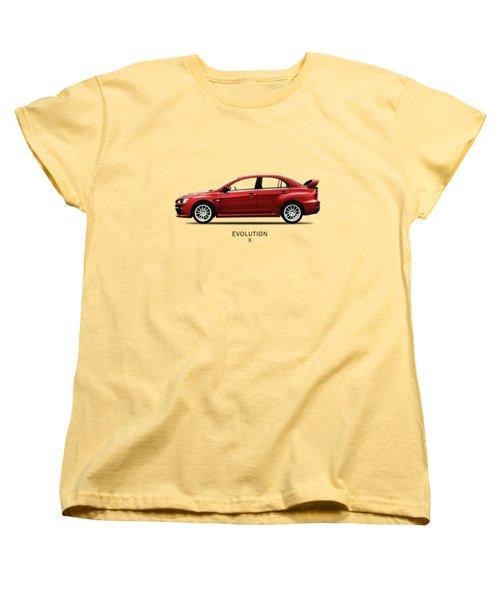 The Lancer Evolution X Women's T-Shirt (Standard Cut) by Mark Rogan