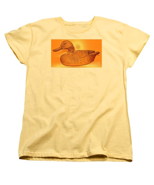 The Legend Of The Golden Duck Women's T-Shirt (Standard Cut) by Richard W Linford