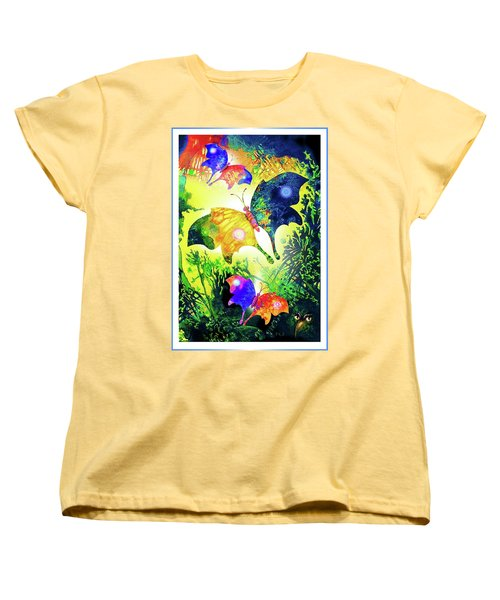 The Magic Of Butterflies Women's T-Shirt (Standard Cut) by Hartmut Jager