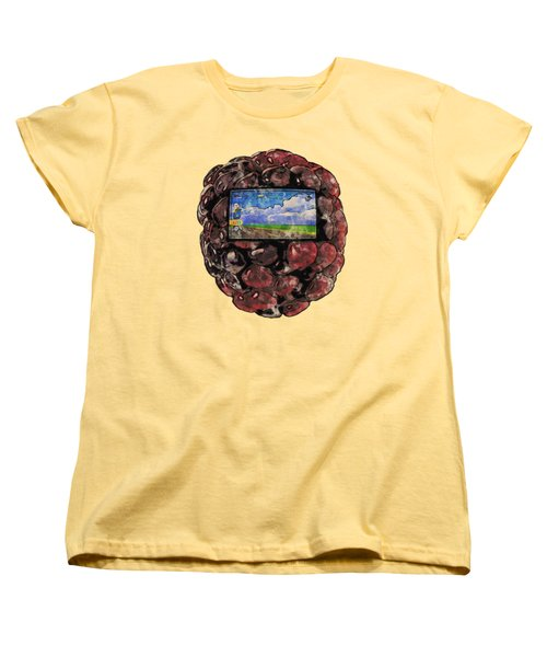 The Blackberry Concept Women's T-Shirt (Standard Cut) by ISAW Gallery