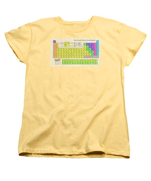The Periodic Table Of The Elements Women's T-Shirt (Standard Cut) by Olga Hamilton