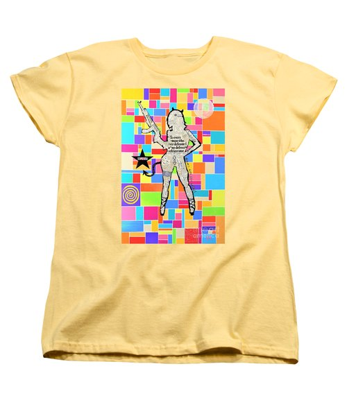 The Rebel Women's T-Shirt (Standard Cut) by Jeremy Aiyadurai