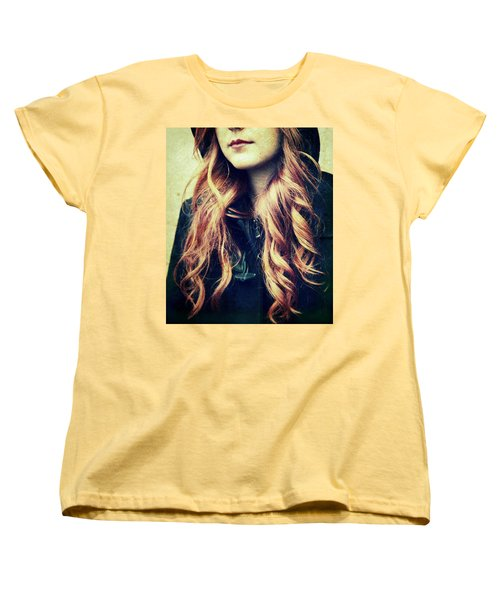 The Red-haired Girl Women's T-Shirt (Standard Cut) by Vittorio Chiampan
