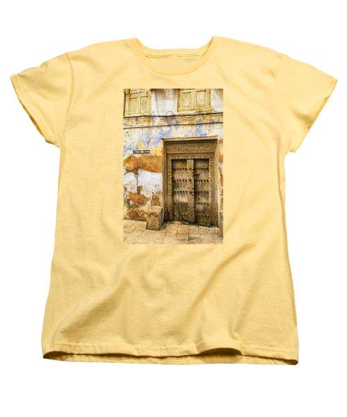 The Rustic Door Women's T-Shirt (Standard Cut) by Amyn Nasser