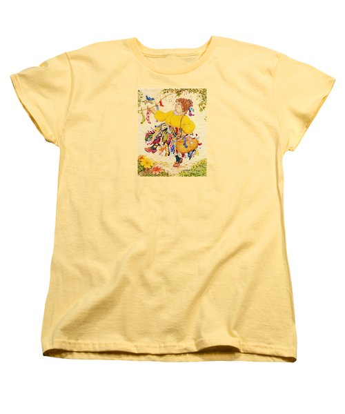 The Sock Lady Women's T-Shirt (Standard Cut) by Dee Davis