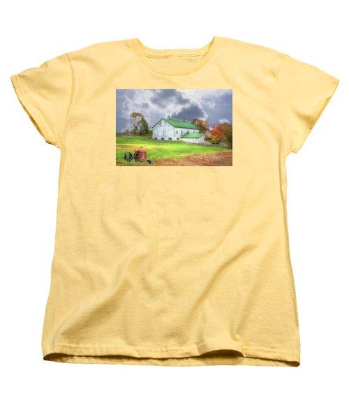 Women's T-Shirt (Standard Cut) featuring the digital art The Storms Coming by Sharon Batdorf