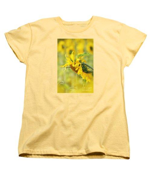 The Sunflower Women's T-Shirt (Standard Cut) by Lila Fisher-Wenzel