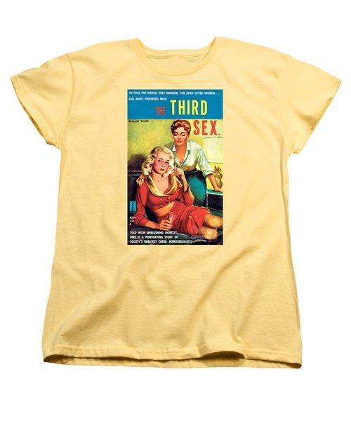 Women's T-Shirt (Standard Cut) featuring the painting The Third Sex by Robert Stanley