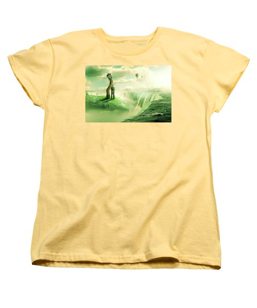 Women's T-Shirt (Standard Cut) featuring the digital art The Time Keeper by Nathan Wright