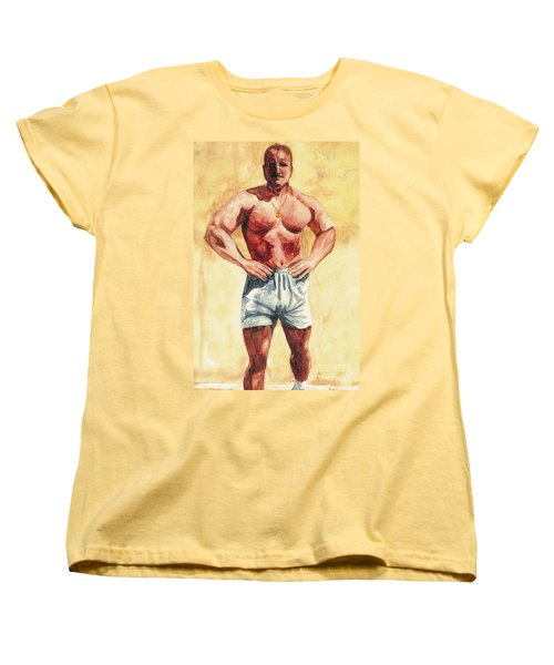Women's T-Shirt (Standard Cut) featuring the painting The Trainer by Vicki  Housel