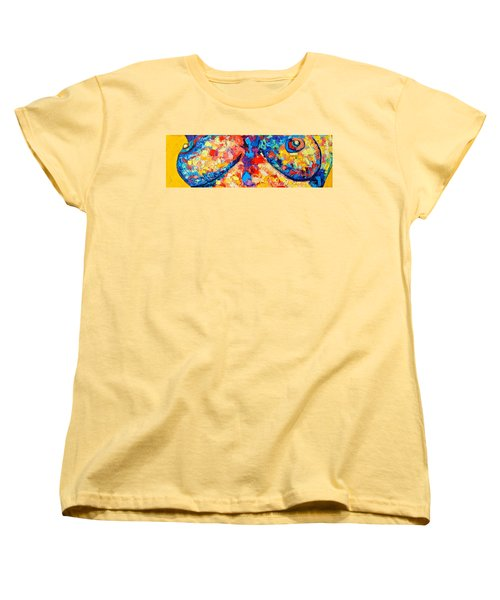 Women's T-Shirt (Standard Cut) featuring the painting The Unknown by Ana Maria Edulescu