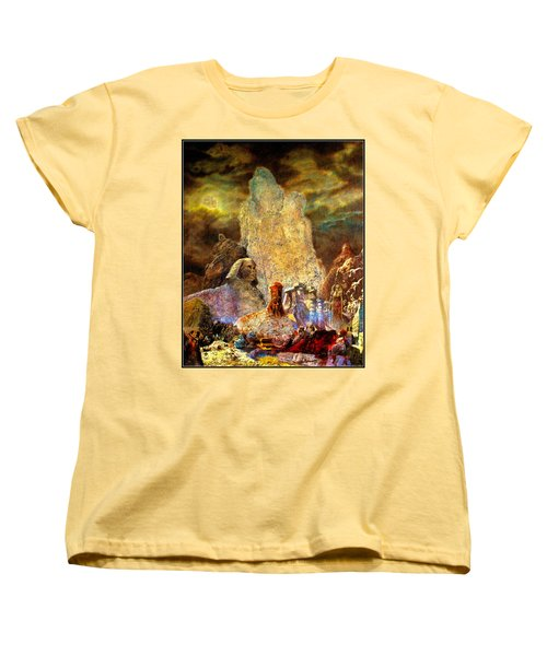 Women's T-Shirt (Standard Cut) featuring the painting The Valley Of Sphinks by Henryk Gorecki