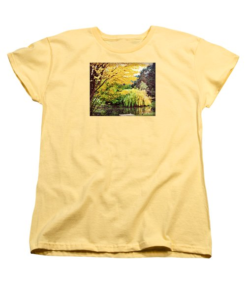 The Wayfarer Pond Women's T-Shirt (Standard Cut) by Mindy Bench
