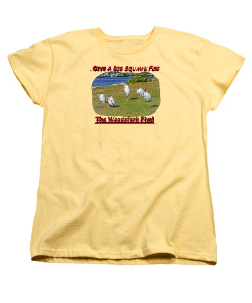 The Woodstork Five Women's T-Shirt (Standard Cut) by John M Bailey