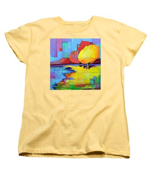 The Yellow Tree Women's T-Shirt (Standard Cut) by Jodie Marie Anne Richardson Traugott          aka jm-ART