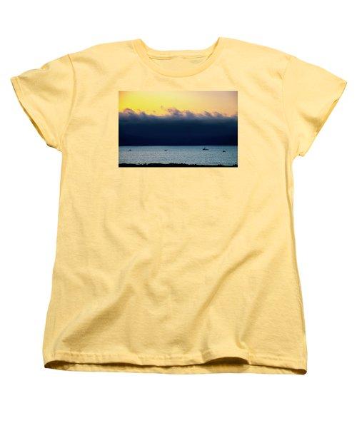 Thick Fog Blankets Sunset Women's T-Shirt (Standard Cut) by Joseph Hollingsworth