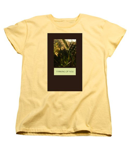 Thinking Of You Women's T-Shirt (Standard Cut) by Mary Ellen Frazee