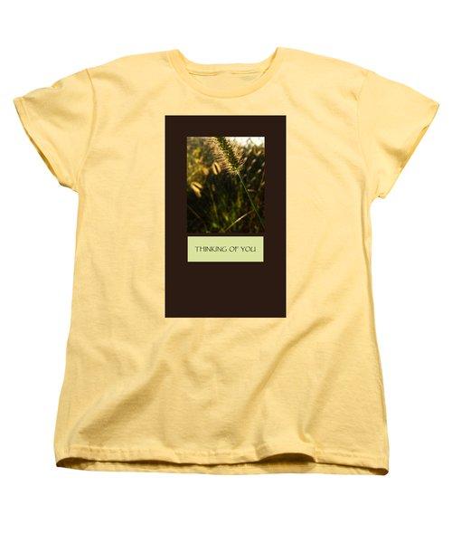 Thinking Of You Women's T-Shirt (Standard Cut) by Mary Ellen Frazee