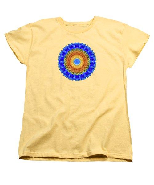 Third Eye Mandala Art By Sharon Cummings Women's T-Shirt (Standard Cut) by Sharon Cummings