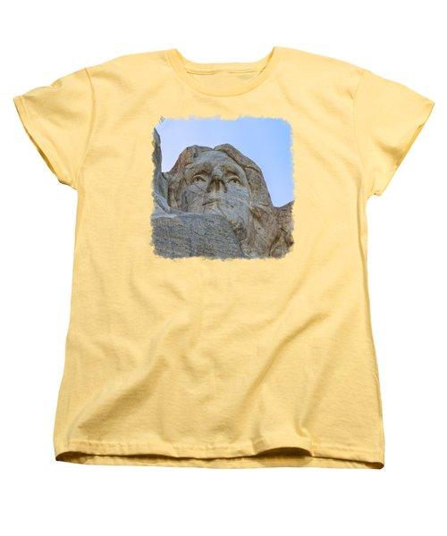 Thomas Jefferson 3 Women's T-Shirt (Standard Cut) by John M Bailey