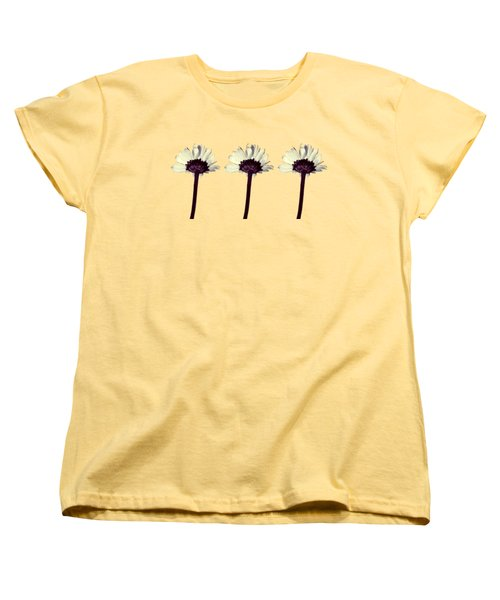 Women's T-Shirt (Standard Cut) featuring the photograph Three Little Daisies by Shawna Rowe