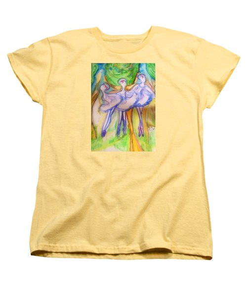 Three Magical Birds Women's T-Shirt (Standard Cut) by Judith Desrosiers