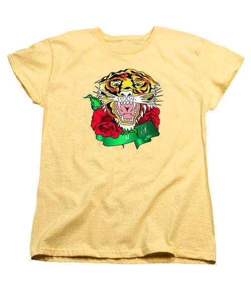 Tiger L Women's T-Shirt (Standard Cut) by Mark Ashkenazi