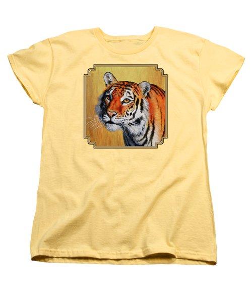 Tiger Portrait Women's T-Shirt (Standard Cut) by Crista Forest