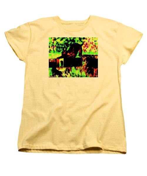 Time To Stretch Women's T-Shirt (Standard Cut) by Gina O'Brien